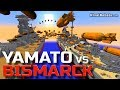 Yamato Vs Bismarck Battleship NUKE WAR in Minecraft