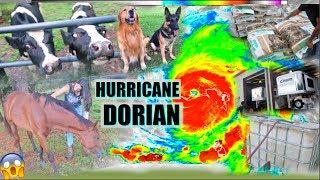 HOW I PREPARED MY ANIMALS FOR HURRICANE DORIAN! *LATE