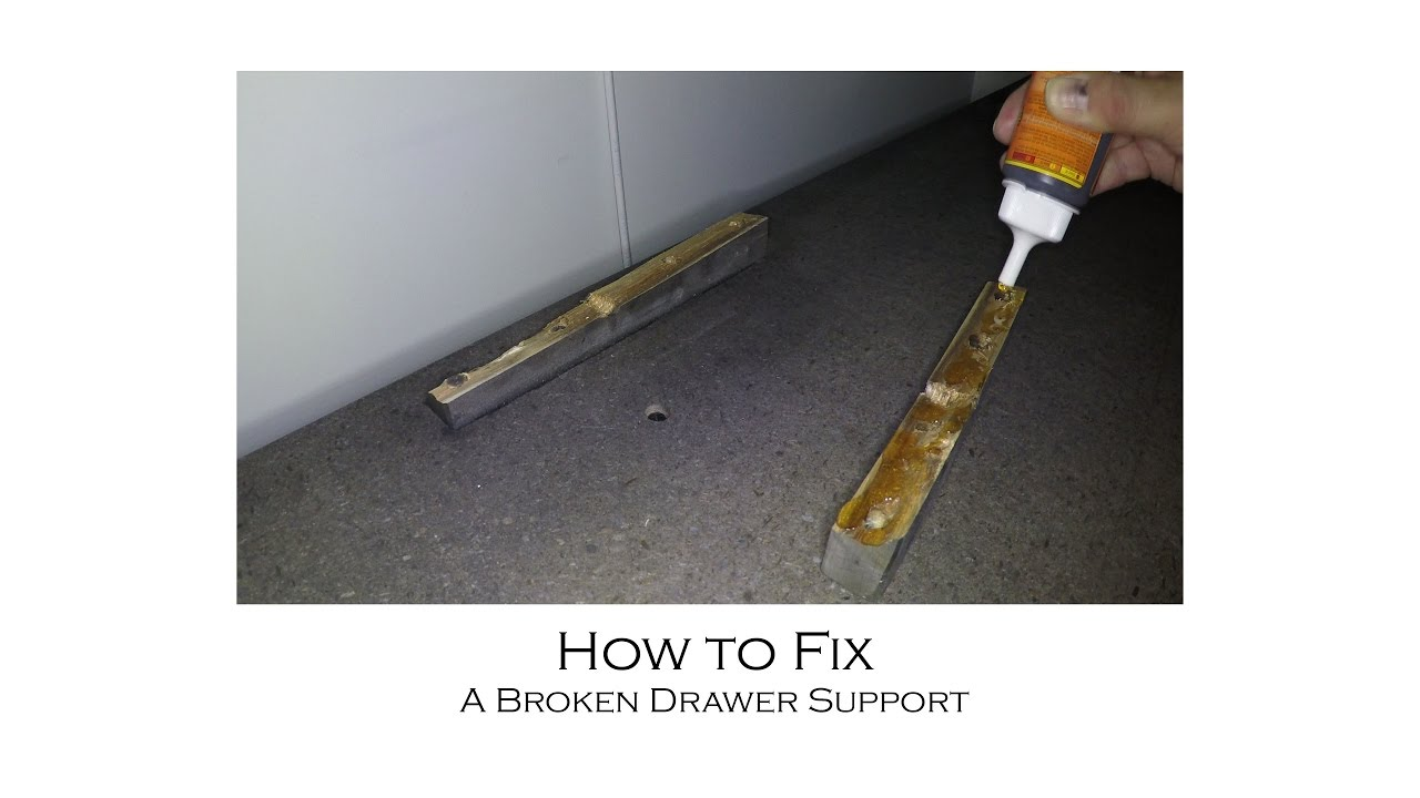 how to fix a broken wooden drawer support with gorilla glue - How To Fix A Drawer