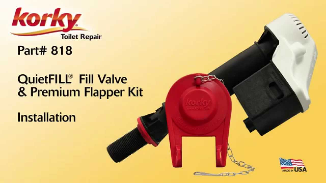 toilet fill valve and flapper. QuietFILL Fill Valve And Flapper Kit Install By Korky  Toilet Repair YouTube