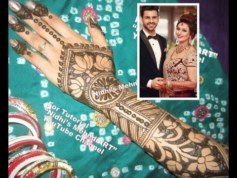 Mehndi Ceremony Mp : Divyanka tripathi marriage mehndi ceremony inspired back hand