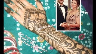 Divyanka Tripathi Mehndi Ceremony : Divyanka tripathi marriage mehndi ceremony inspired back hand