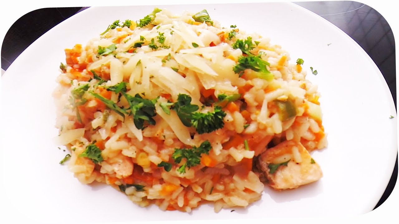 lachs risotto rezept kochen online youtube. Black Bedroom Furniture Sets. Home Design Ideas
