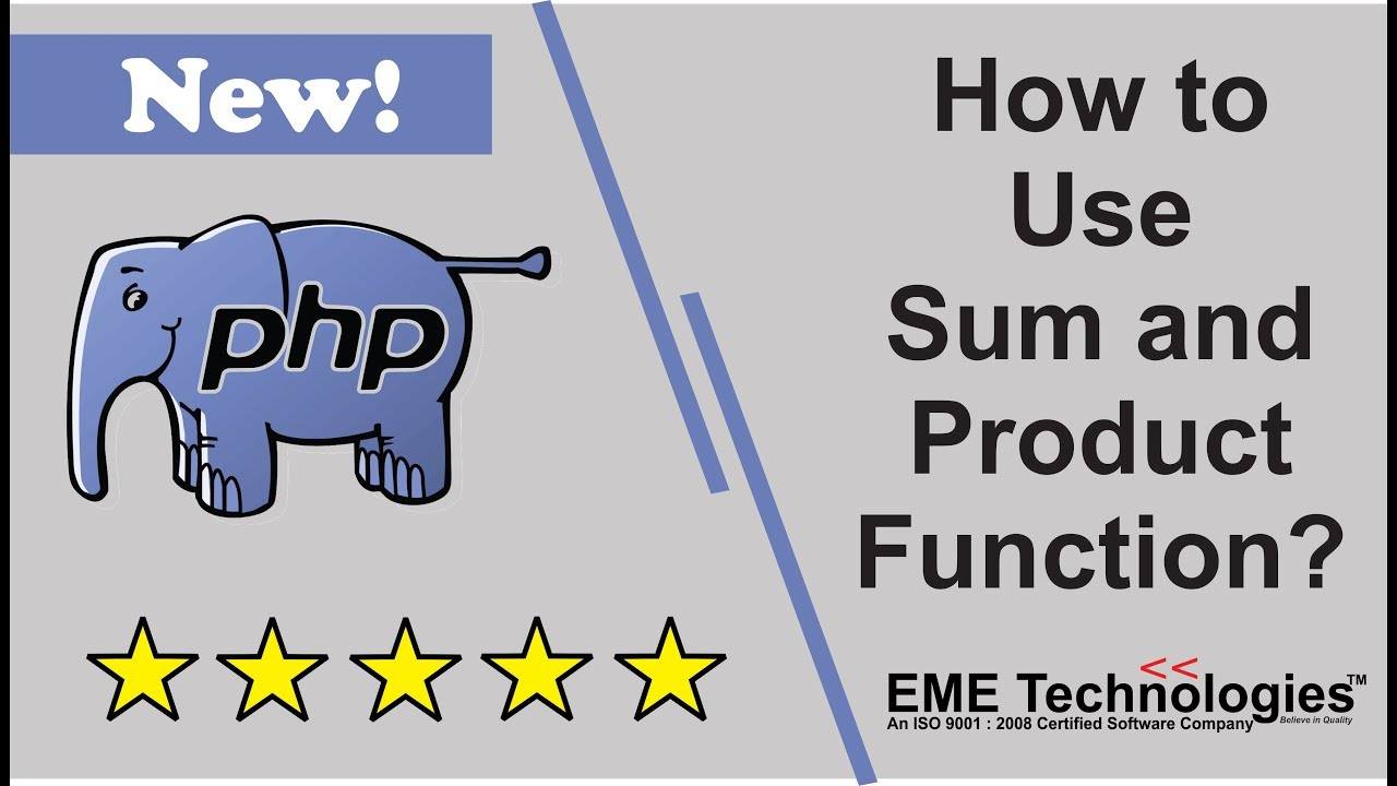 How to Use Sum and Product Function in PHP