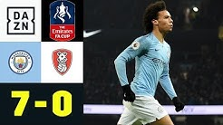 Leroy Sane und Co. im Torrausch: Manchester City - Rotherham United 7:0 | FA Cup | DAZN Highlights