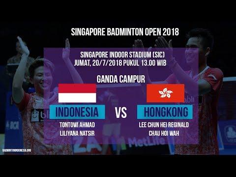 Jadwal Laga Ganda Campur Tontowi/Liliyana Melawan Ganda Campur Hongkong Di Singapore Open 2018