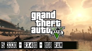 gta v very high graphics i5 3330 rx480 gaming x 8gb ram