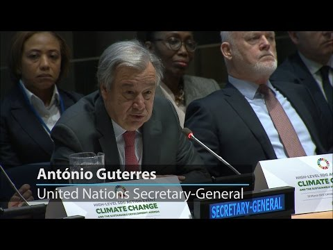 UN chief calls for urgent action in combatting climate change