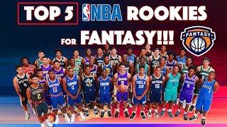 Top 5 nba fantasy rookies!! | nba fantasy basketball | 2017- 2018