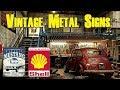 ✪VINTAGE✪ Decorative Idea : Advertising metal signs under $10