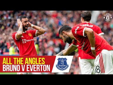 All angles    Bruno Fernandes' impressive free kick against Everton!     Manchester United Preseason 21/22
