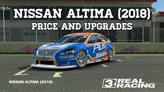 Real Racing 3 Nissan Altima 2018 Price & Upgrades RR3