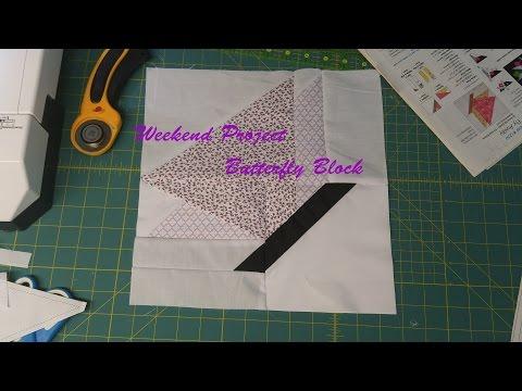 Weekend Project - Butterfly block