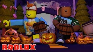 ROBLOX Halloween - SPOOKY TRICK OR TREATING ON FRIDAY THE 13th