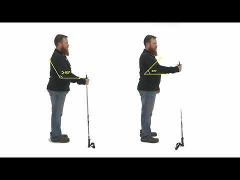 How To Choose The Correct Ski Pole Length / Skiing 101 / Ski Equipment Basics