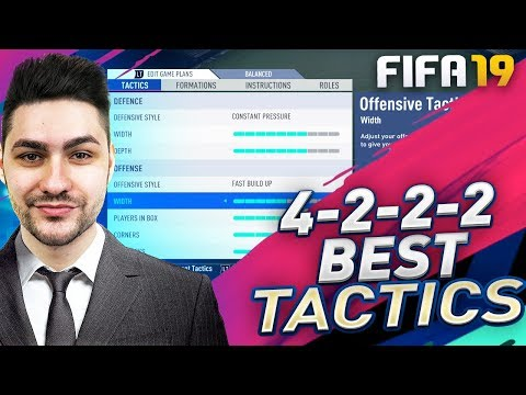 FIFA 19 THE MOST BALANCED FORMATION - BEST ATTACK & DEFENCE / BEST TACTICS & INSTRUCTIONS 4-2-2-2