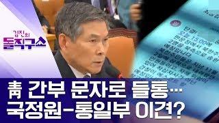 靑 간부 문자로 들통…국정원-통일부 이견? | 김진의 돌직구쇼