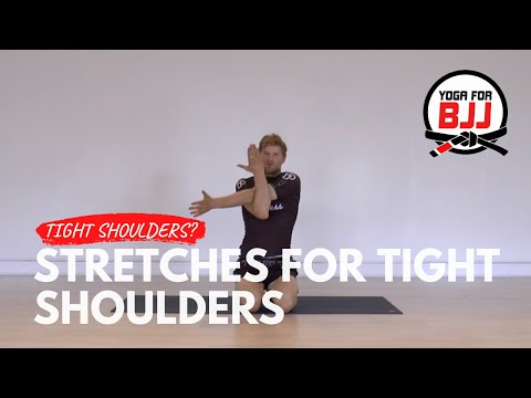 Easy shoulder stretches w/elastic band