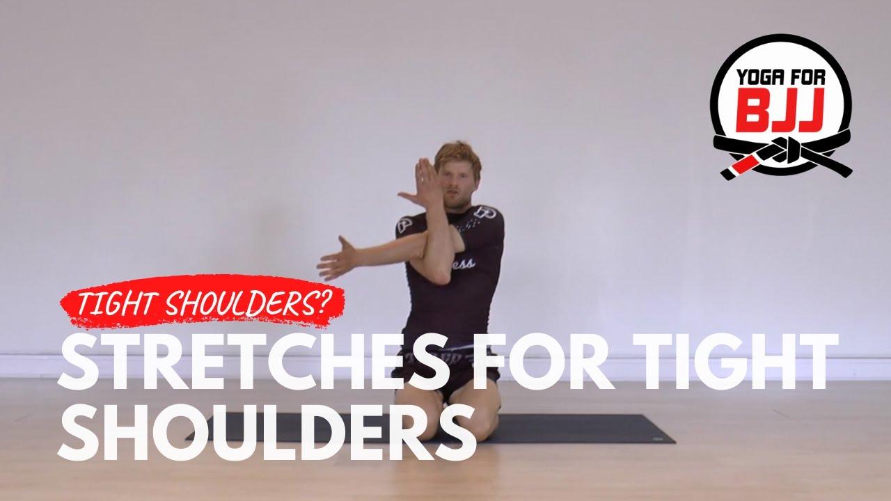 Easy Shoulder Stretches W Elastic Band Youtube