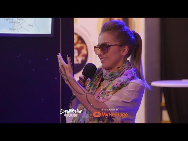 Ester Peony (Romania) | MyHeritage DNA reveal @ Eurovision 2019