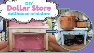 DIY - How to Make Dollar Store Dollhouse Miniature Furniture
