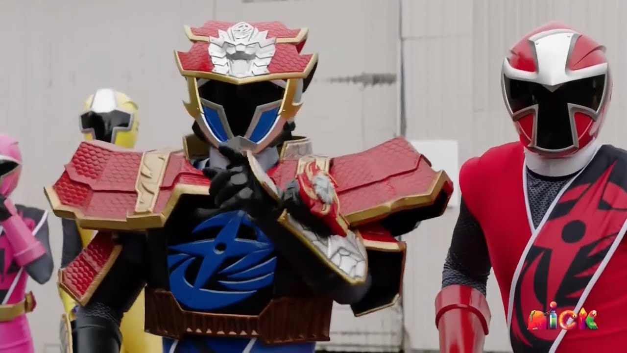 Power Rangers Super Ninja Steel - Lion Fire Blue Ranger vs Tynamon | Episode 18