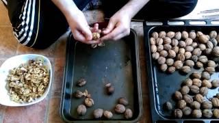 как быстро очистить грецкие орехи