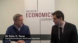 Rufus H. Yerxa, Deputy Director-General, World Trade Organisation at Warwick Economics Summit