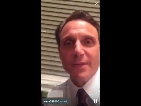 Tony Goldwyn's first Periscope