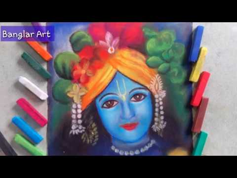 Drawing Lord Krishna / Easy steps for Beginners / Banglar Art