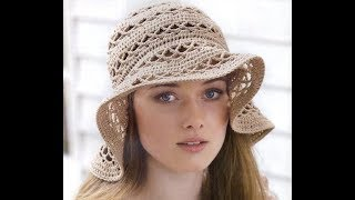 Вязаная летняя панамка (шапочка) крючком. Knitted hat tutorial.