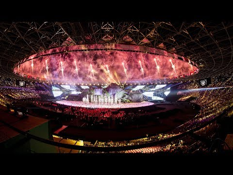 Highlights of the 18th Asian Games opening ceremony in Jakarta
