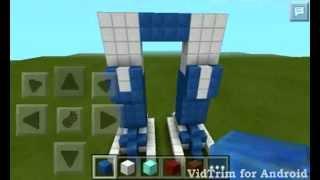 как сделать оптимуса прайма в minecraft pe №2
