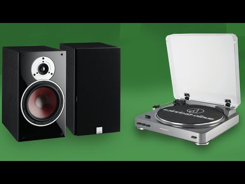 Ed Sheeran X Exclusive vinyl record on a Audio-Technica AT-LP60 Turntable and Dali Zensor 3 speakers