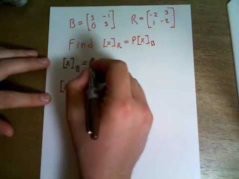 Let B be the basis of R^2 consisting of the vectors