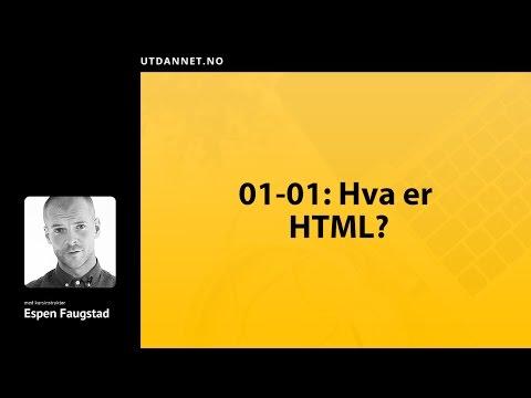 01 Av 09: Introduksjon   HTML Kurs   Utdannet.no