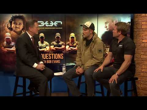 Actor Jim Caviezel and Tim Ballard of Operation Underground Railroad  3 Questions with Bob Evans