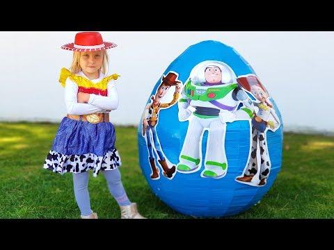 """Alisa opens toys from egg surprise """"Toy Story"""""""