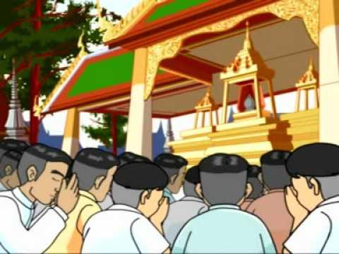 Buddha's relic India to Siam (Wat Saket)