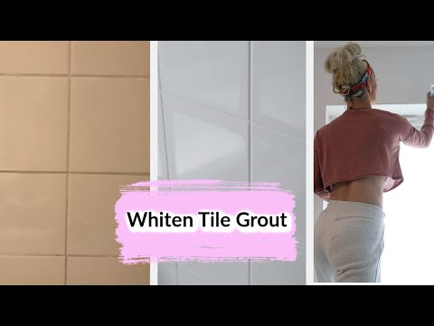 HOW TO WHITEN TILE GROUT   EASY AND CHEAP DIY