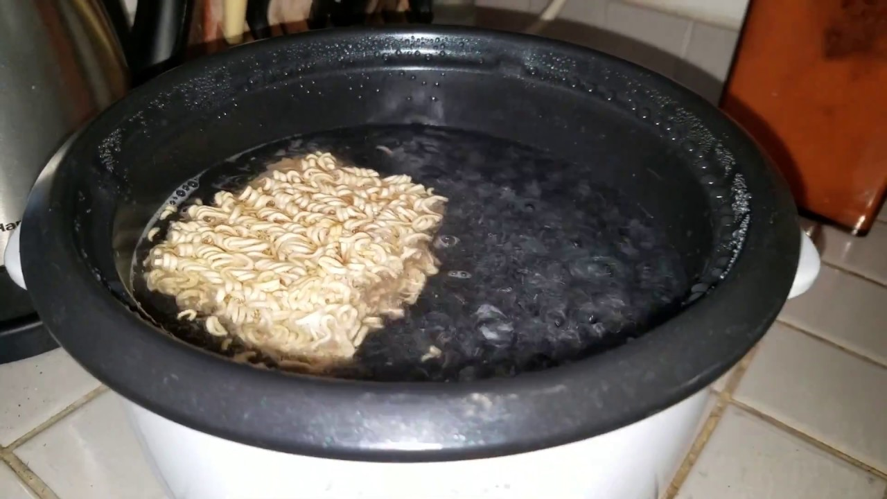 How I use a RICE COOKER to cook ramen noodles - YouTube