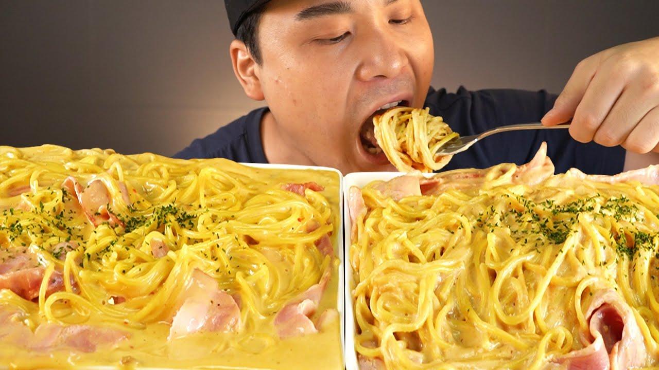 청정원 명란크림파스타와  머쉬룸투움바 파스타소스 먹방~!! 리얼사운드 ASMR social eating Mukbang(Eating Show)