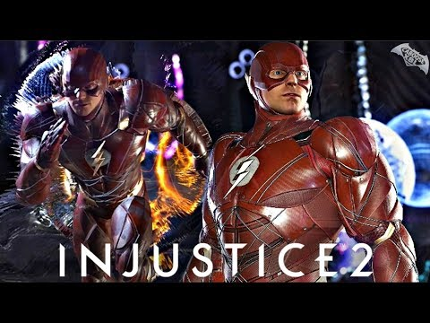 Injustice 2 - EPIC JUSTICE LEAGUE MOVIE FLASH GEAR GAMEPLAY!