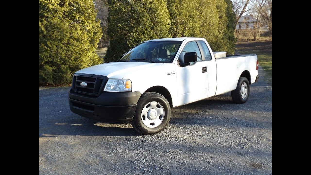 2007 ford f 150 xl triton 4 6l v8 single cab start up. Black Bedroom Furniture Sets. Home Design Ideas