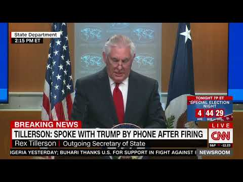 Full Rex Tillerson remarks after firing as secretary of state