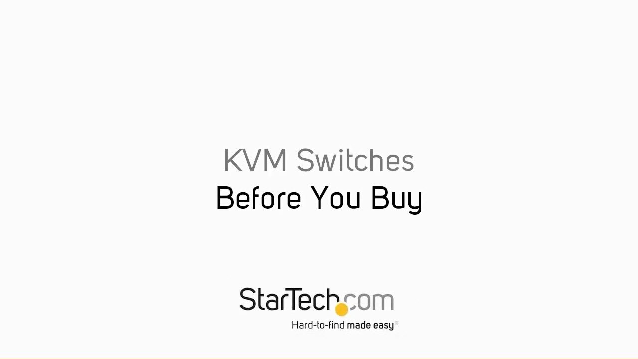 2 Port USB KVM Switch Kit with Cables | KVM Switches