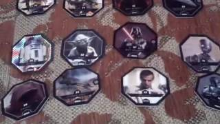 Моя коллекция карточек и фигурок звёздных воин: