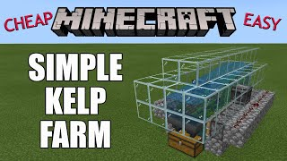 Minecraft: Automatic Kelp Farm - Cheap & easy to build