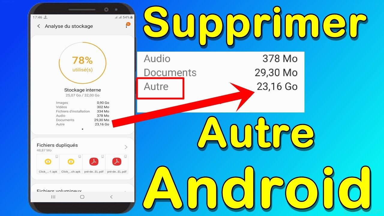 Comment Supprimer 'Autre' Sur Android    Nouvelle méthode