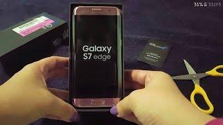 Chegou o meu Galaxy S7 Edge Rosê / Rosa